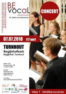 BEVocaL concert in de Begijnhofkerk op 7 juli 2018 om 17.00 uur @ Begijnhofkerk   Turnhout   Vlaanderen   België